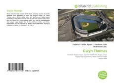 Capa do livro de Gwyn Thomas