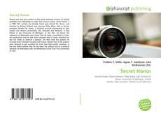Bookcover of Secret Honor