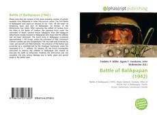 Bookcover of Battle of Balikpapan (1942)