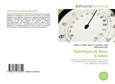 Couverture de Statistique de Bose-Einstein