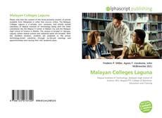 Buchcover von Malayan Colleges Laguna