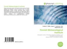 Bookcover of Finnish Meteorological Institute