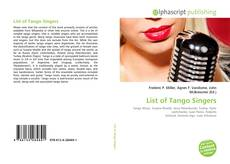 Bookcover of List of Tango Singers