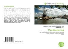 Bookcover of Maeslantkering