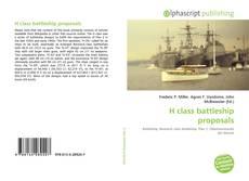 Bookcover of H class battleship proposals