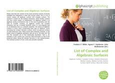 Buchcover von List of Complex and Algebraic Surfaces