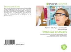 Mécanique des Fluides kitap kapağı