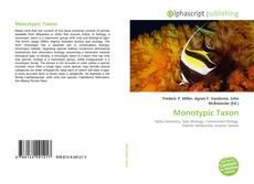 Buchcover von Monotypic Taxon