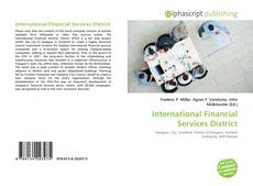 Bookcover of International Financial Services District