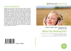 Bookcover of What You Waiting For?