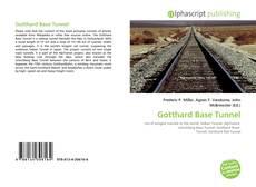 Portada del libro de Gotthard Base Tunnel
