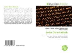 Capa do livro de Seder Olam Rabbah
