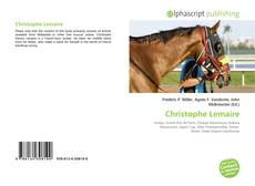 Bookcover of Christophe Lemaire