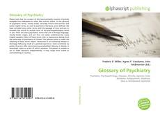 Bookcover of Glossary of Psychiatry