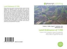 Bookcover of Land Ordinance of 1785