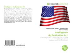 Bookcover of Intelligence Authorization Act
