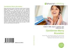 Buchcover von Gentlemen Marry Brunettes