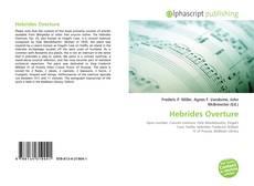Hebrides Overture kitap kapağı
