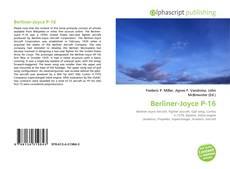 Berliner-Joyce P-16 kitap kapağı