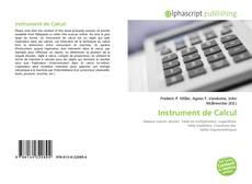 Bookcover of Instrument de Calcul