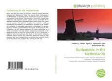 Portada del libro de Euthanasia in the Netherlands