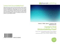Bookcover of Cantor's First Uncountability Proof