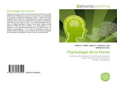 Bookcover of Psychologie de la Forme