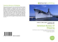 Bookcover of American Bureau of Shipping