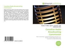Buchcover von Canadian Radio Broadcasting Commission