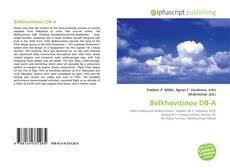 Bookcover of Bolkhovitinov DB-A