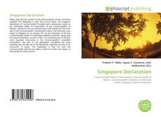 Bookcover of Singapore Declaration