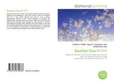 Bookcover of Boulton Paul P.111