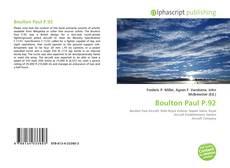 Bookcover of Boulton Paul P.92