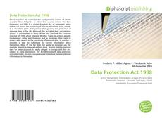 Bookcover of Data Protection Act 1998