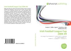 Bookcover of Irish Football League Cup 2008–09