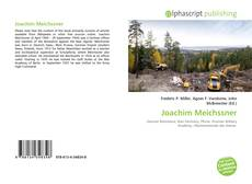 Bookcover of Joachim Meichssner