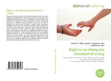 Bookcover of Right to an Adequate Standard of Living