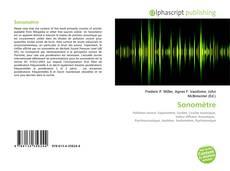 Обложка Sonomètre