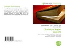 Обложка Chronique Anglo-saxonne