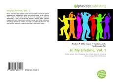 Bookcover of In My Lifetime, Vol. 1