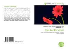 Bookcover of Jean-Luc De Meyer