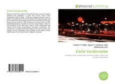 Buchcover von Emile Vandervelde