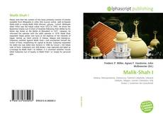 Malik-Shah I kitap kapağı