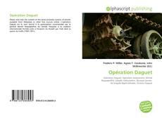 Bookcover of Opération Daguet