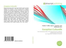 Bookcover of Exception Culturelle