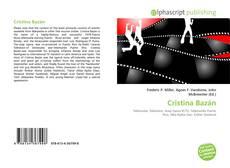 Couverture de Cristina Bazán