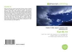 Portada del libro de Fiat RS.14