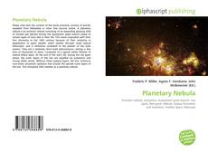 Bookcover of Planetary Nebula
