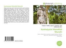 Bookcover of Kanhaiyalal Maneklal Munshi