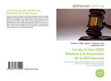 Bookcover of Loi du 5 mars 2007 Relative à la Prévention de la Délinquance